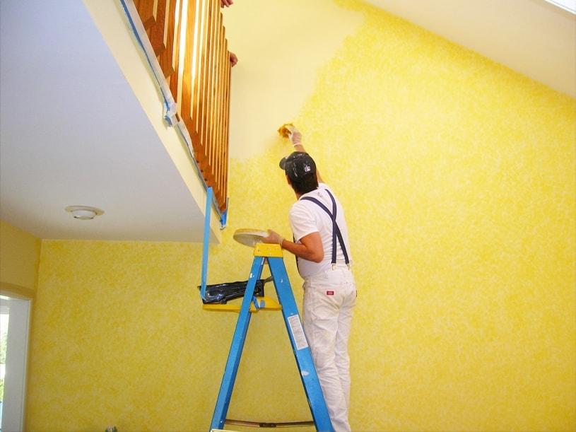 Painting & whitewashing Polish Paints contractors painters painting service provider interior decorator : Jor Bagh Delhi